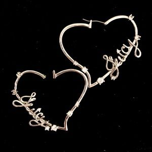 Juicy Couture 🌸 heart hoop earrings